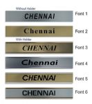 Chennai Clock Name Plate |World Time Zone City Wall clocks Sign custom Plaque
